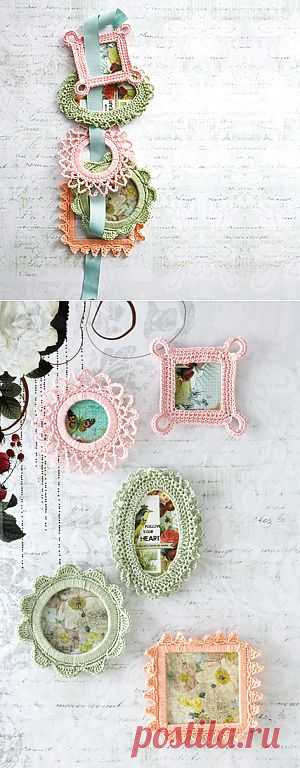 Frame Crocheted frames hook.