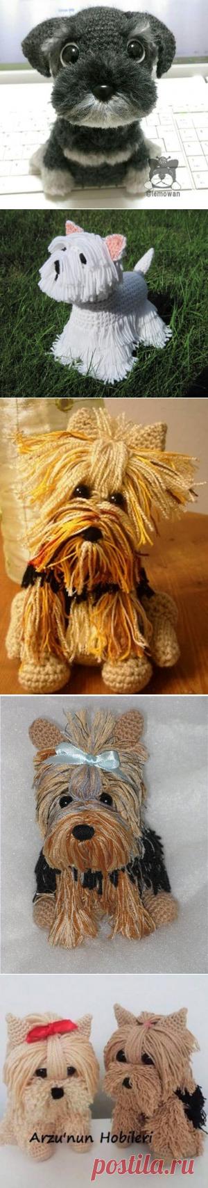 Бесплатный вязание крючком Yorkie Собака шаблон с видео   ВОЗ