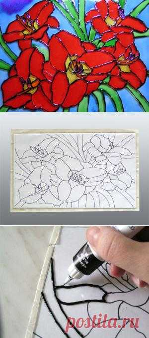 Картина на стекле - подарок ручной работы
