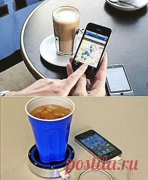 Зарядка телефона посредством чашки кофе   Экоблог