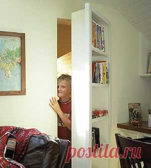 секретная дверь в виде полки