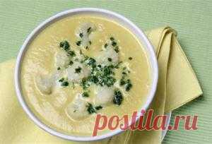 Молочный суп с цветной капустой