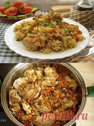 Плов с курицей | Рецепт плова с курицей с фото | Узбекский плов с курицей на Webspoon.ru