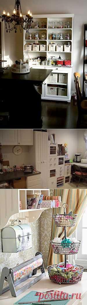 Craft room - рабочие комнаты рукодельниц (часть 2).