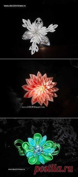 Блоги@Mail.Ru: Канзаши (kanzashi) - цветок из ткани. МК