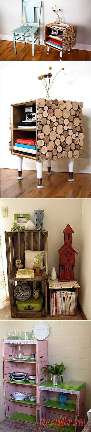Столики и тумбочки из ящика (подборка) / Мебель / Модный сайт о стильной переделке одежды и интерьера