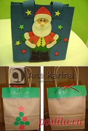 Sacolinhas para o Natal | Painel Criativo