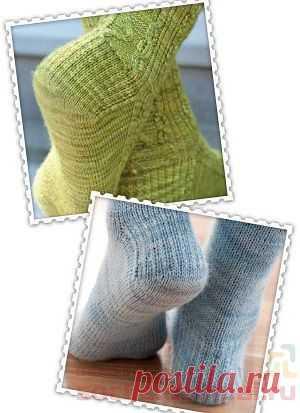 как вязать пятку носка вязаные носки вязание постила