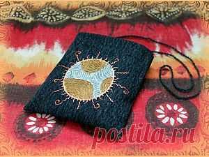 МК маленькая сумка MOJO или техника росписи джинсовой ткани - Ярмарка Мастеров - ручная работа, handmade