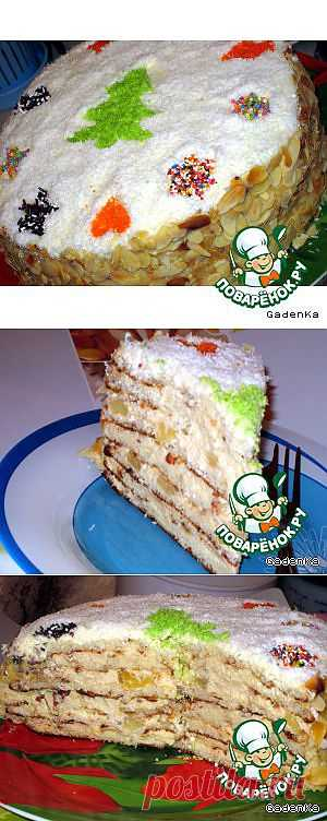 Торт слоеный «Именинно-Новогодний» -