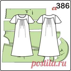 34188ac6985 Выкройка платья для полных женщин с кокетками - Porrivan Выкройка платья  для полных женщин с кокетками