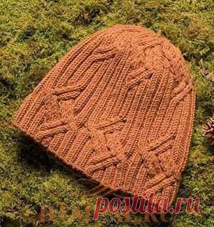 (+2) Men's cap (Knitting by spokes)