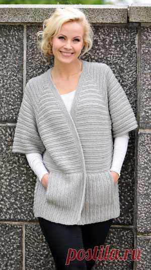 Схема вязания | Вяжем симпатичный свитер для мамы с перетяжками