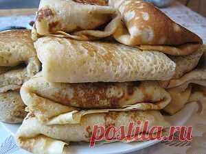 Блинчики с колбасой | 4vkusa.ru