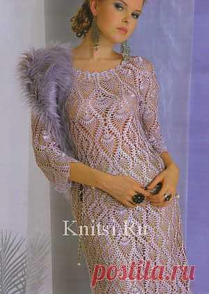 Ажурное платье. Вязание для женщин / Платья / Крючком