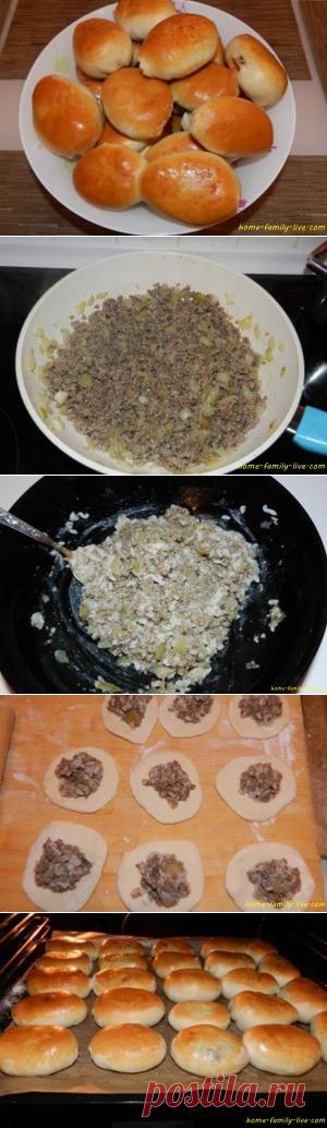 Пирожки с мясом/Сайт с пошаговыми рецептами с фото для тех кто любит готовить