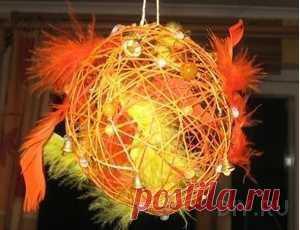 Плетем шары-паутинки