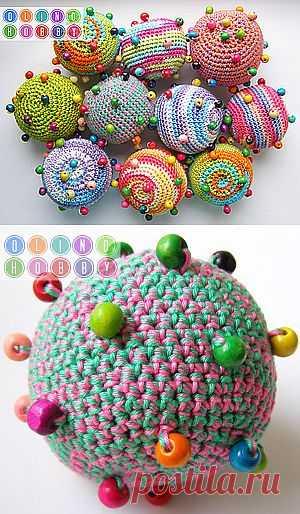 Вязаный мячик с бусинами (тактильная игрушка) - Ярмарка Мастеров - ручная работа, handmade