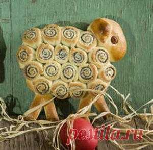 Пасхальные барашки с маком