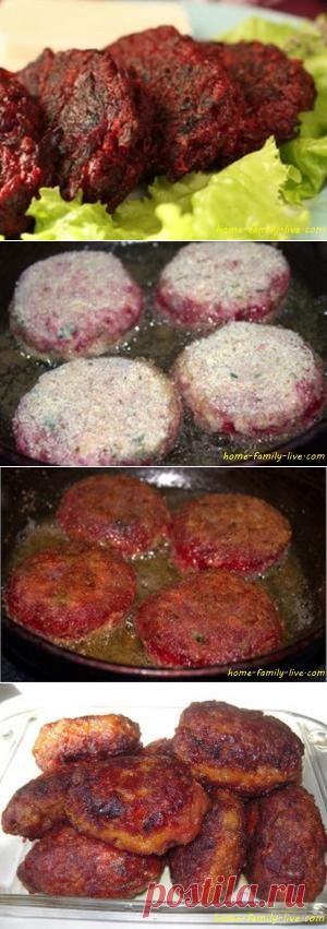 Свекольные котлеты - Кулинарные рецептыКулинарные рецепты
