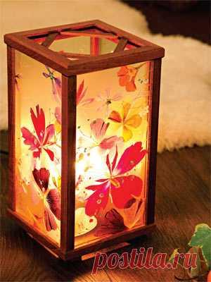 Оригинальный светильник своими руками для дома.
