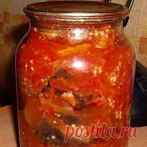 Любимые баклажаны в томатном соусе