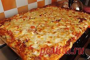 Домашняя пицца с колбасой | Приятного аппетита