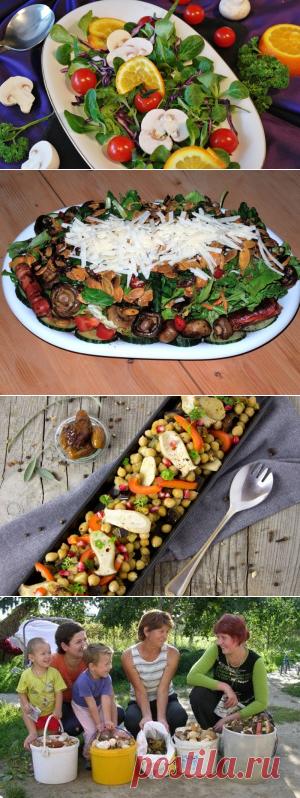 Какие салаты можно приготовить из грибов? | Еда и кулинария
