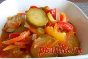 Вкусный салат из кабачков на зиму буду готовить всегда