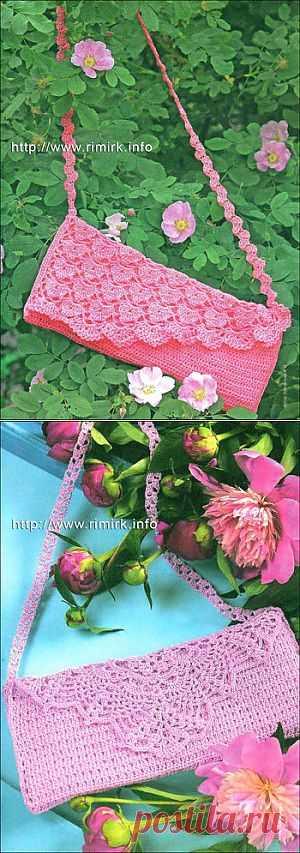 Элегантные женские сумочки (крючок).  С описанием.