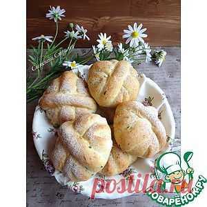 Хлеб с зеленью петрушки и моцареллой