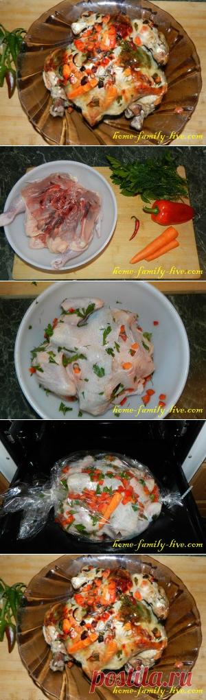 Курица запеченная в рукаве - пошаговый рецепт с фотоКулинарные рецепты