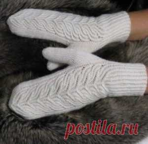 """Принцесса"" mittens; - Knitting (schemes on all models)"