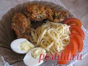 Такую курочку я готовлю к макаронам. Очень сочное и нежное мясо курицы прекрасно сочетается с отменным соусом