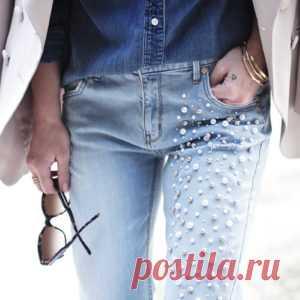 Идеи декора джинсов