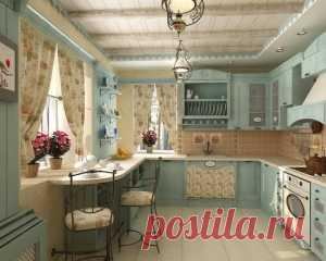 Дизайн маленькой кухни в стиле прованс | Megapoisk.com