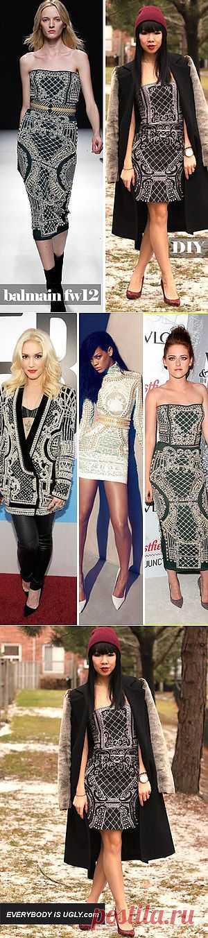 Повтор платья Balmain Fall/Winter 2012 / Платья Diy / Модный сайт о стильной переделке одежды и интерьера