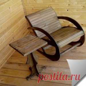 ROCKING-CHAIR FROM ONE SHEET of PLYWOOD the HANDS - Mirtesen