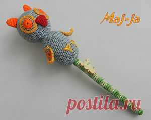 """Knitted rattle """"Совушка"""",650 rubles"""