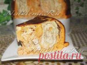 Мясной пирог из лаваша готов
