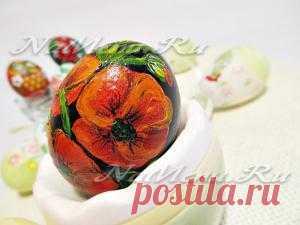 Объемная роспись пасхальных яиц