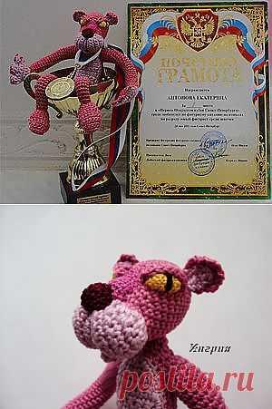 МК по вязанию игрушки Розовая пантера - Ярмарка Мастеров - ручная работа, handmade