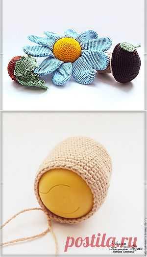 Вязаные игрушки-погремушки - Ярмарка Мастеров - ручная работа, handmade