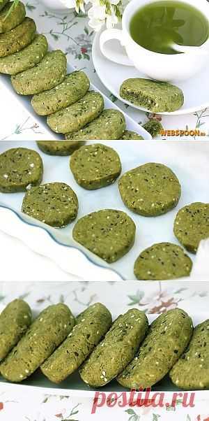 Песочное зелёное печенье, с насыщенным вкусом и ароматом зелёного чая, чёрным и белым кунжутом, очень необычное и оригинальное! Такое печенье непременно понравится любителям зелёного чая и восточной выпечки.
