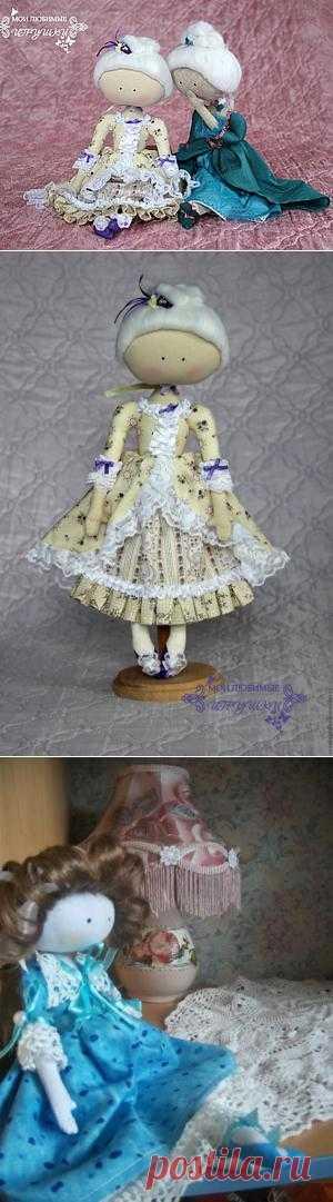Текстильная кукла-примитив Адель. Очень миленькие подружечки, мне понравились)))