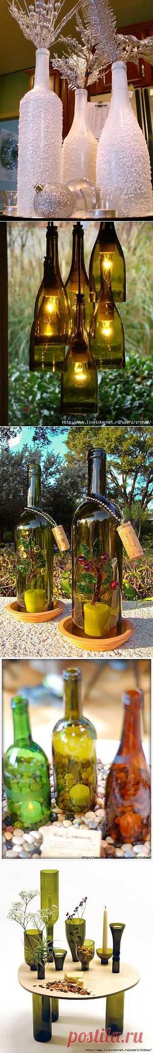 Один из наиболее популярных вариантов «переделки» - превращение винной бутылки
