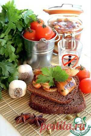 Сельдь малосольная маринованная в кисло-сладком томатном соусе - кулинарный рецепт