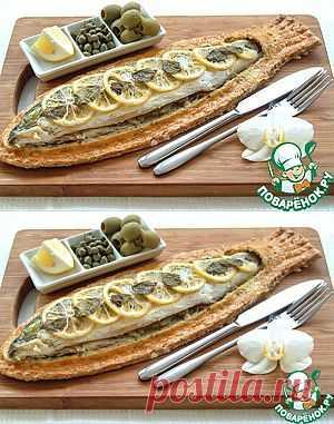 Сибас, запеченный в тесте из морской соли и розмарина - кулинарный рецепт