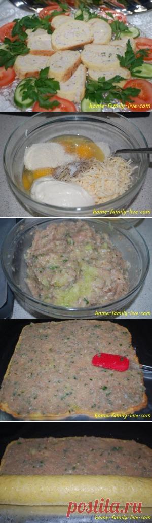 Куриный рулет/Сайт с пошаговыми рецептами с фото для тех кто любит готовить