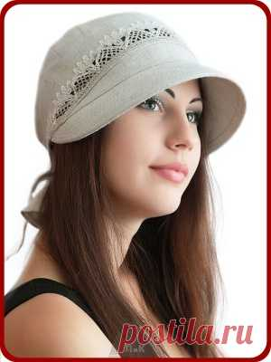790r - the Baseball cap Angela - Women's caps - From cotton and flax